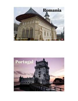 Europe Bulletin Board Set - Postcards