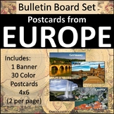 Europe Bulletin Board Set - Postcards