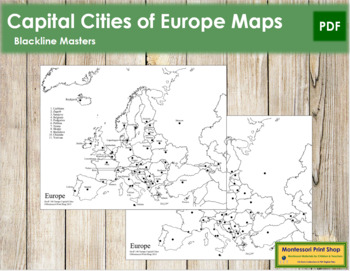 Europe Capital Cities Map