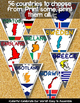 EUROPE CLASSROOM DECOR MAKE YOUR OWN PENNANT BANNER