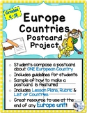 Europe Countries Postcard Project