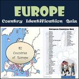 Europe - Country Identification Quiz