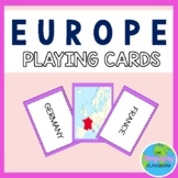 Europe Country Geography Playing Cards