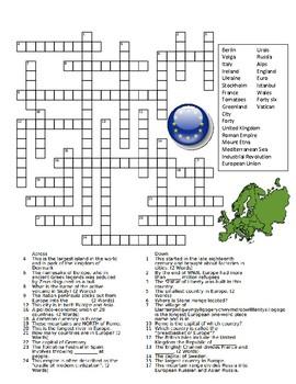 Europe Crossword