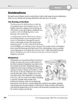 Europe: Culture: Celebrations