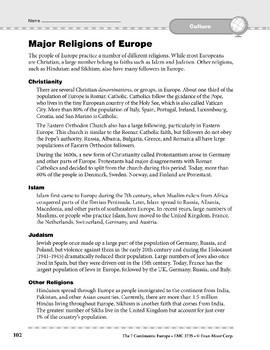 Europe: Culture: Religions