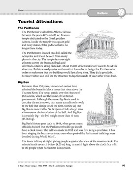 Europe: Culture: Tourist Attractions
