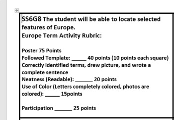 Europe Cultures Group Activity