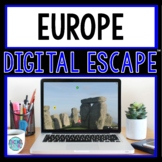 Europe DIGITAL ESCAPE ROOM for Google Drive® Distance Learning