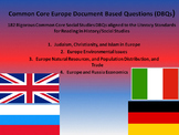 Europe Document Based Questions (DBQs) - 182 DBQs and 4 Different Topics!!