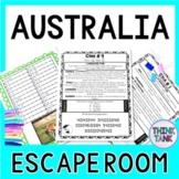 Australia ESCAPE ROOM!  Continents and Geography -  NO PREP, PRINT & GO!