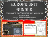 Europe Unit Bundle - Economics Government Religion Language
