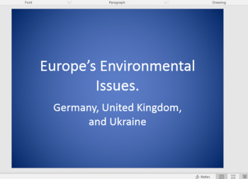 Europe Environmental concerns Resources