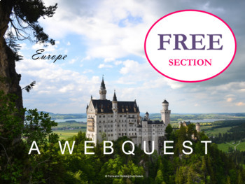 Free Excerpt of the Europe Geography and History Webquest