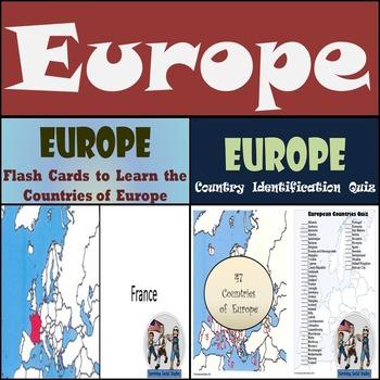 Europe - Flash Cards & Quiz Bundle!