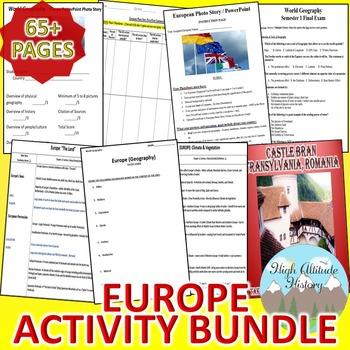 Europe Activity Bundle (Geography)