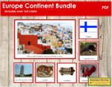 Europe Geography Continent Bundle - (Color Borders)