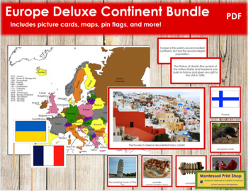 Europe Geography Deluxe Bundle - Color Borders