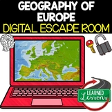 Europe Geography Digital Escape Room, Breakout Room, Test