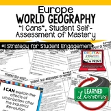 Europe Geography I Cans, Self-Assessment of Mastery, Europ