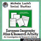 Europe Geography Introduction Atlas Activity Physical and Political