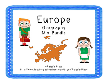 europe geography mini bundle by paige 39 s place teachers pay teachers. Black Bedroom Furniture Sets. Home Design Ideas