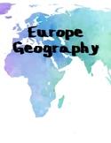 Europe Geography Mini Unit