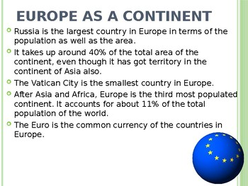 Europe Geography PowerPoint