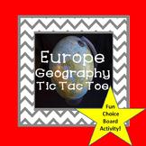 Europe Geography Tic Tac Toe Choice Board