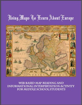 Europe Geography with Maps Middle School Interactive Worksheet Unit
