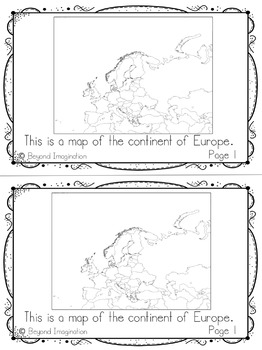 Europe Continent Booklet | 48 Pages for Differentiated Learning + Bonus Pages