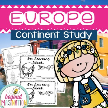 Europe Continent Booklet | 48 Pages for Differentiated Lea