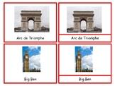 Europe Landmarks Montessori 3 part cards