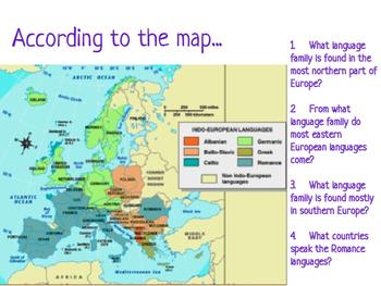 Europe Language And Religion By Mascara Macchiatos And Map Skills