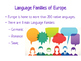 Europe: Language and Religion