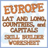 Europe - Three Geography Exercises