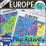 Europe Map Activity (Print and Digital)