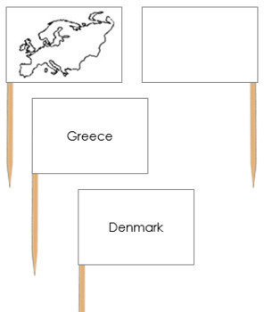 Europe Map Labels - Pin Map Flags