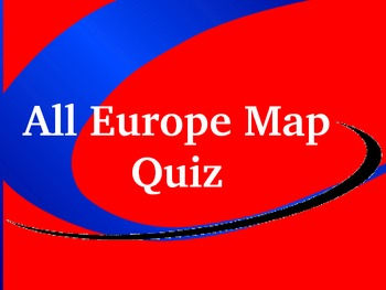 Europe map quiz powerpoint by brian maurice teachers pay teachers europe map quiz powerpoint sciox Gallery