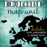 Europe Map Unit with Outline Map and Test