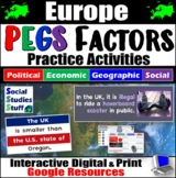 Europe PEGS Factors Interactive, Digital Lesson for Google Classroom