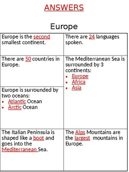 Europe Passage + Guided Notetaking + Map (SOL 3.6)