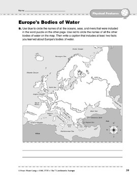 Europe: Physical Features: Bodies of Water