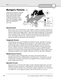 Europe: Physical Features: Forests