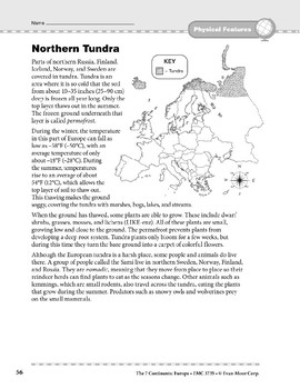 Europe: Physical Features: Northern Tundra