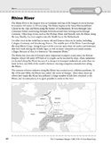 Europe: Physical Features: Rhine River