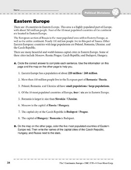 Europe: Political Divisions: Eastern Europe