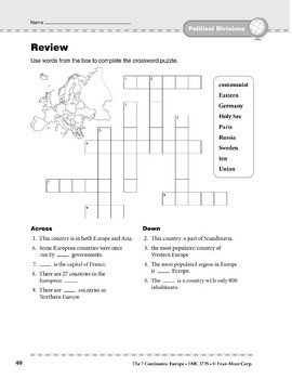 Europe: Political Divisions: Overview & Review
