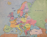 Europe Political Map Poster & Quiz