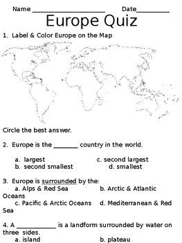 Europe Quiz (SOL 3.6)